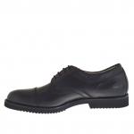 Chaussure avec lacets en cuir noir - Pointures disponibles:  36, 48, 49, 51