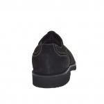 Chaussure à lacets pour hommes avec bout Brogue en nubuck noir - Pointures disponibles:  36, 47