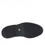 Chaussure à lacets pour hommes en nubuck noir - Pointures disponibles:  36, 47