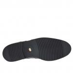 Chaussure élégant fermée avec lacets en cuir noir - Pointures disponibles:  36, 48, 49, 51