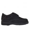Chaussure avec lacets en nubuck noir