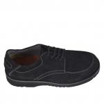 Chaussure avec lacets en nubuck noir - Pointures disponibles:  36, 38, 47, 48
