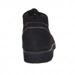 Homme chaussure avec lacets en cuir nabuk noir - Pointures disponibles:  36, 47
