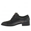 Chaussure pour femmes avec fermeture éclair en cuir gris talon 3 - Pointures disponibles:  46