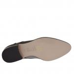 Femme chaussure aver fermeture éclair en cuir gris talon 3 - Pointures disponibles:  46