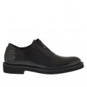 Chaussure élégant pour hommes avec fermeture éclair en cuir noir