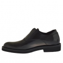 Men's elegant shoe with zipper in black leather - Available sizes:  36, 47