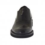 Chaussure élégant pour hommes avec fermeture éclair en cuir noir - Pointures disponibles:  36, 47, 50