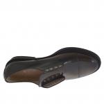 Chaussure pour femmes en cuir noir et marron talon 3 - Pointures disponibles:  46