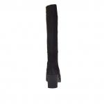 Bottes avec fermeture éclair en cuir nabuk noir talon 7 - Pointures disponibles:  42