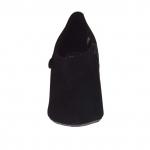 Women's shoe with zipper in black suede heel 8