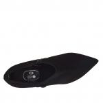 Talon-haut chaussure avec fermeture éclair en daim noir talon 8 - Pointures disponibles:  31