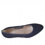 Escarpin pour femmes en tissu élastique bleu talon 3 - Pointures disponibles:  31