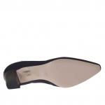 Escarpin pour femmes en tissu élastique bleu talon 5 - Pointures disponibles:  46