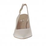 Chanel in pelle beige cipria tacco 7 - Misure disponibili: 47