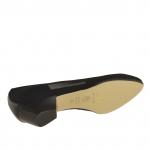 Escarpin pour femmes en tissu élastique noir talon 3 - Pointures disponibles:  32