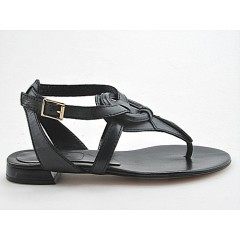 Sandalo infradito in pelle colore grigio - Misure disponibili: 32