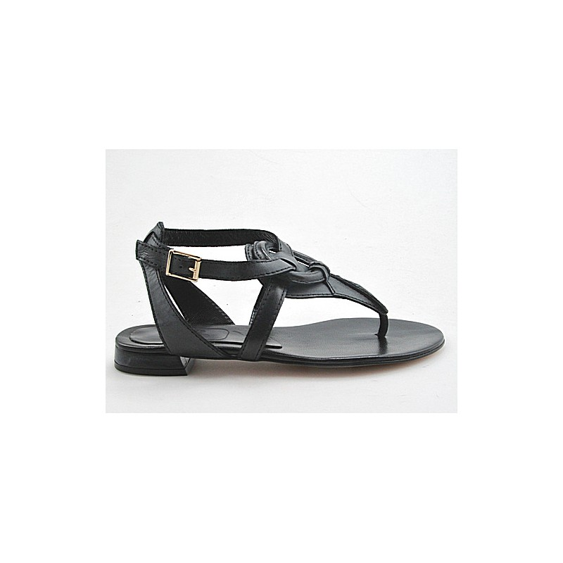 Flip flop sandal with strap in gray leather heel 1 - Available sizes:  32