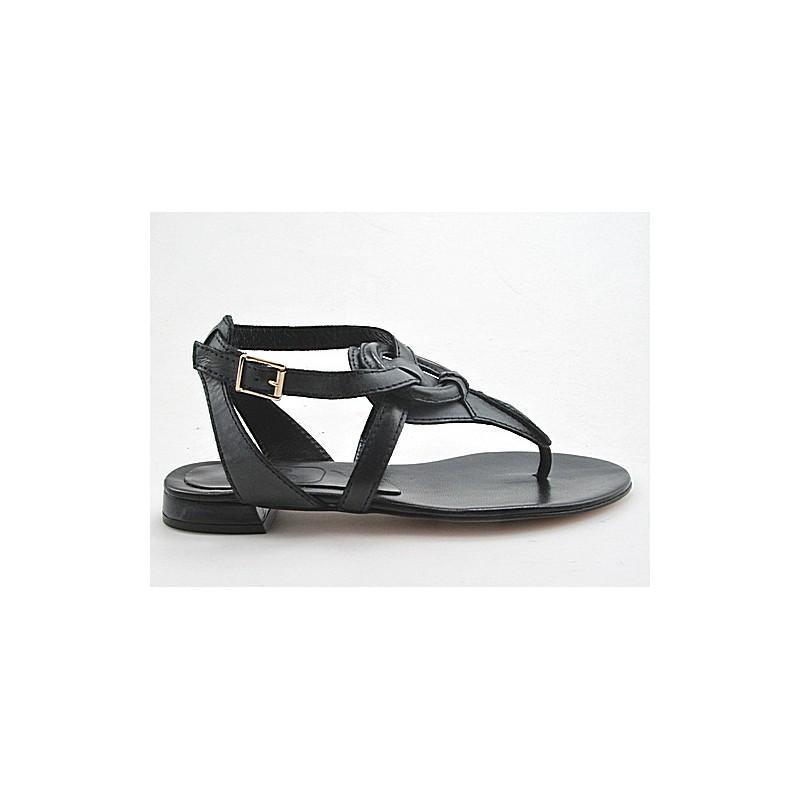 flop sandale en cuir gris - Pointures disponibles:  32