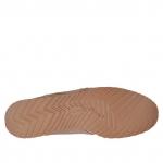 Chaussure sportive pour hommes avec lacets en cuir antique brun clair - Pointures disponibles:  46