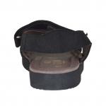 Sandalia para hombres con dos bandas velcro en nobuk negro - Tallas disponibles:  46, 47