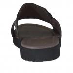 Mule pour hommes en cuir noir - Pointures disponibles:  46, 48