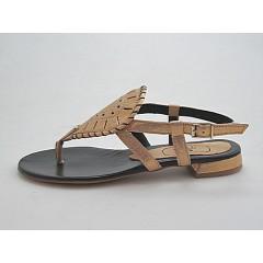 Sandalo infradito in pelle colore oro - Misure disponibili: 32