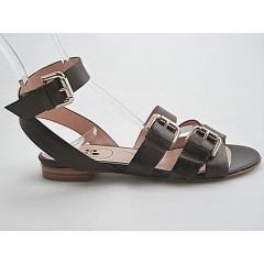 Sandalo listini in pelle colore marrone - Misure disponibili: 32