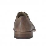 Chassure pour femmes avec lacets en cuir marron et marron foncé talon 2 - Pointures disponibles:  44