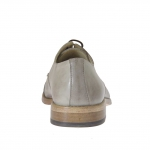 Chaussure élégant pour hommes avec lacets et bout droit en cuir gris tourterelle - Pointures disponibles:  38, 46, 47, 50