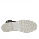 Bottines pour femmes avec boucle en cuir antique perforé noir - Pointures disponibles:  32