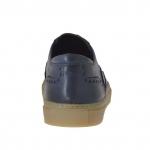 Chaussure sportif pour hommes en cuir bleu avec bout golf - Pointures disponibles:  46