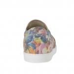 Chaussure pour femmes avec elastiques en cuir imprimé floral talon compensé 2 - Pointures disponibles:  32