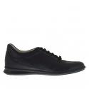 Chaussure sportif pour hommes avec lacets en cuir noir