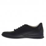 Chaussure sportif pour hommes avec lacets en cuir noir - Pointures disponibles:  46