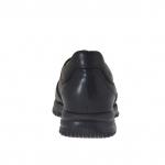 Chaussure pour hommes sportif avec lacets en cuir noir - Pointures disponibles:  36