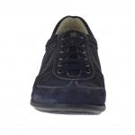 Chaussure sportif avec lacets en daim et cuir bleu  - Pointures disponibles:  46, 47, 51