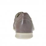 Sportlicher Herrenschürschuh aus rauchfarbigem Leder und grauem Stoff - Verfügbare Größen:  46