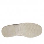 Chaussure pour hommes sportif avec lacets en daim et tissu gris tourterelle - Pointures disponibles:  36, 37