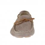 Mocassin pour hommes avec lacets en daim gris tourterelle - Pointures disponibles:  37