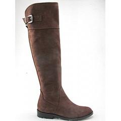 Stivale al ginocchio in nabuk colore marrone - Misure disponibili: 32