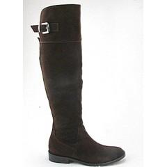 Stivale al ginocchio in camoscio marrone - Misure disponibili: 32