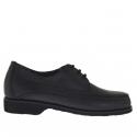 Chaussure pour hommes avec lacets en cuir noir