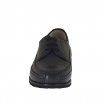 Men's laced shoe in black leather - Available sizes:  36