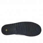 Ciabatta aperta da uomo in pelle nera con fibbie - Misure disponibili: 47, 48
