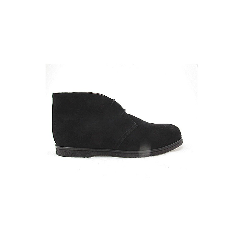 Lace anklesportshoe in black suede - Available sizes:  47
