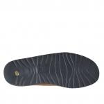 Sandale pour hommes en cuir nubuck brun tabac avec boucle - Pointures disponibles:  47, 48