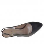 Chanel pour femmes en cuir noir talon 9 - Pointures disponibles:  31
