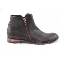 Botin en piel de color marron oscuro - Tallas disponibles:  50
