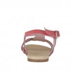 Damensandale aus pink - und cremefarbenem Lackleder - Verfügbare Größen:  33